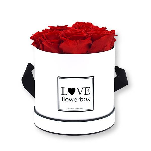 Flowerbox_rosenbox_blumenbox_rund_Medium_weiss_Infinity_Rosen_vibrantred_rot.jpg