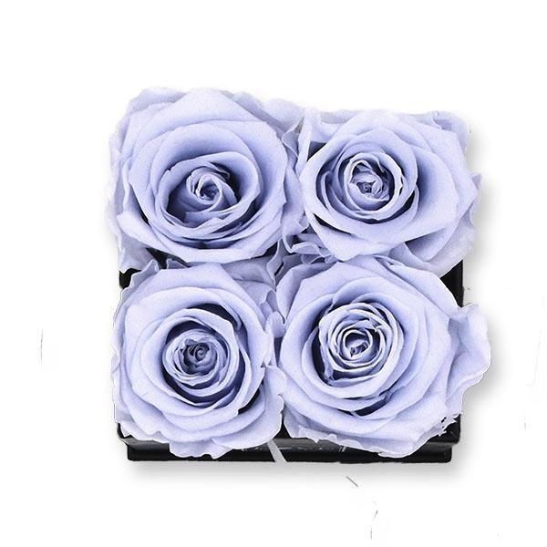 Rosenbox Infinity Rosen lavendel | Flowerbox eckig | S Modern white