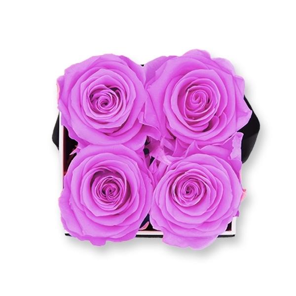 Rosenbox Infinity Rosen flieder | Flowerbox eckig | S Modern white