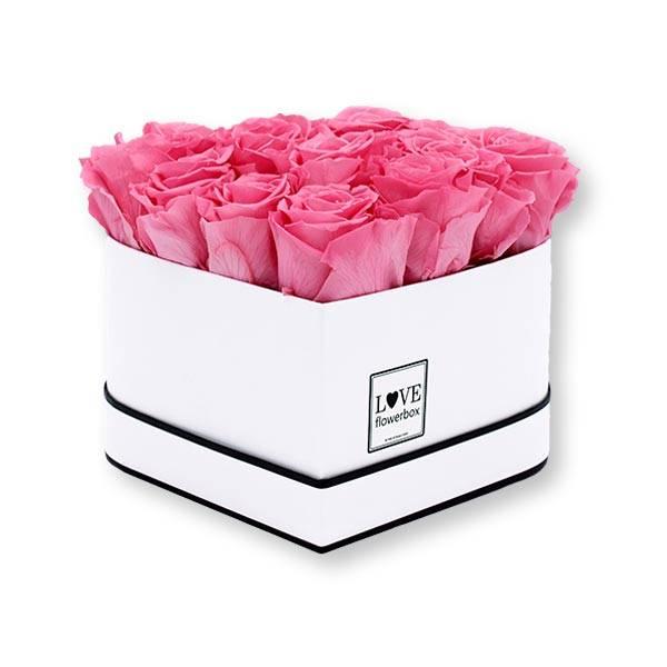 Flowerbox Herz | Medium | Rosen Baby Pink (Rosa)