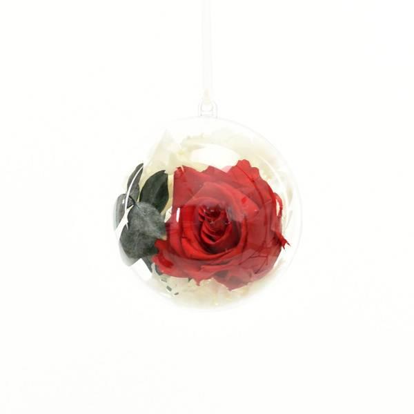 Flowerball mit Rose vibrant red und Hortensie