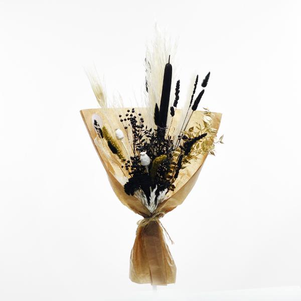 Trockenstrauß Schwarze Eleganz M