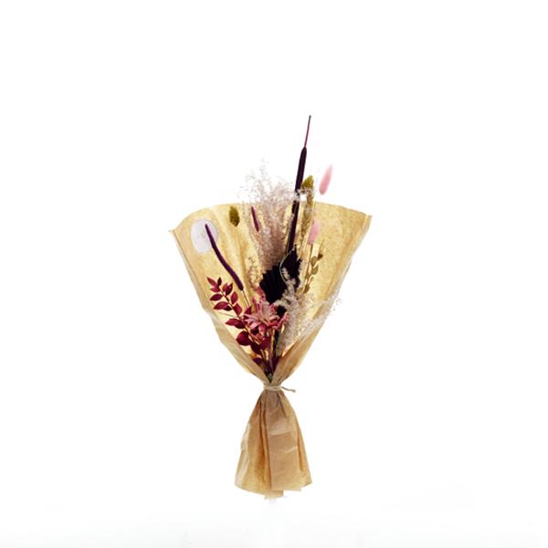 Trockenblumenstrauß Goldener Beerenglanz S | Trockenblumen beere-lila-gold