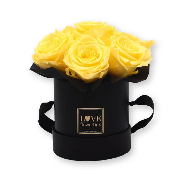 Flowerbox Bouquet gold | Small | Rosen Peach (Aprikot)