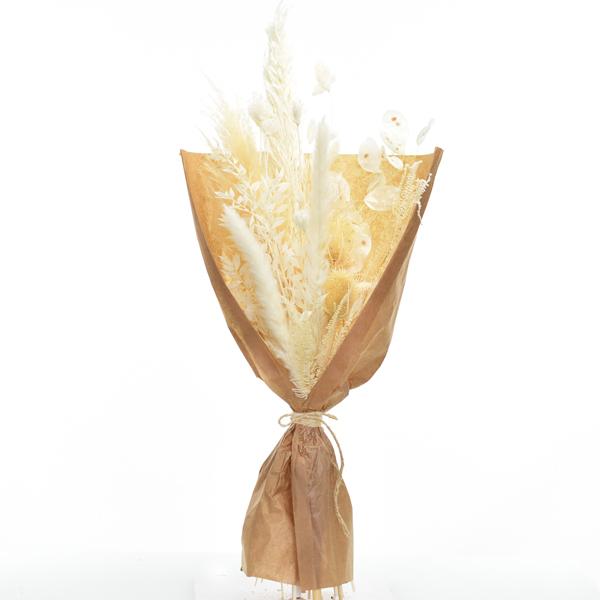 Trockenblumenstrauß Weisse Eleganz M | Trockenblumen weiss-ivory