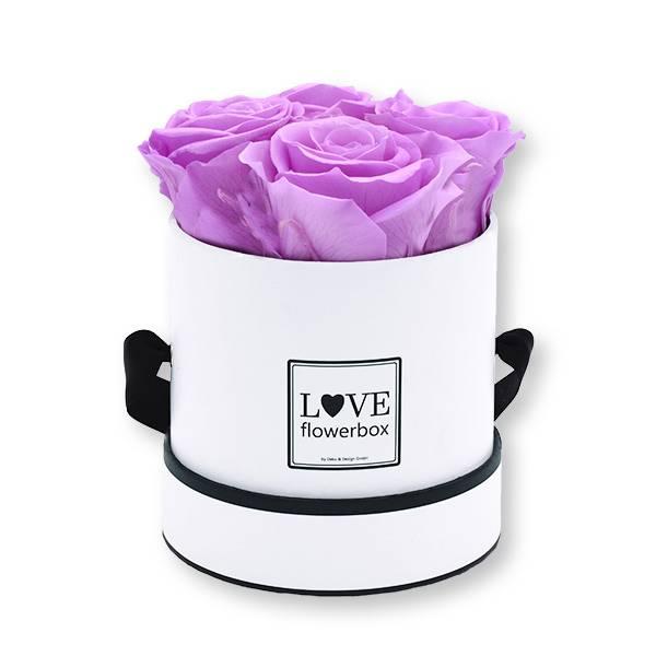 Flowerbox_rosenbox_blumenbox_rund_Small_weiss_Infinity_Rosen_babylili_flieder.jpg