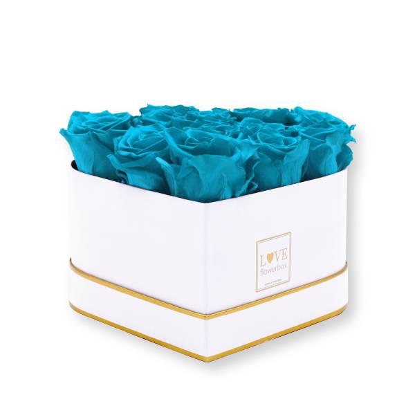 Flowerbox_rosenbox_blumenbox_Herz_herzfoermig_Medium_weiss_gold_Infinity_Rosen_aqua_tuerkis.jpg