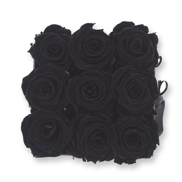 Flowerbox Modern | Medium | Rosen Black (Schwarz)