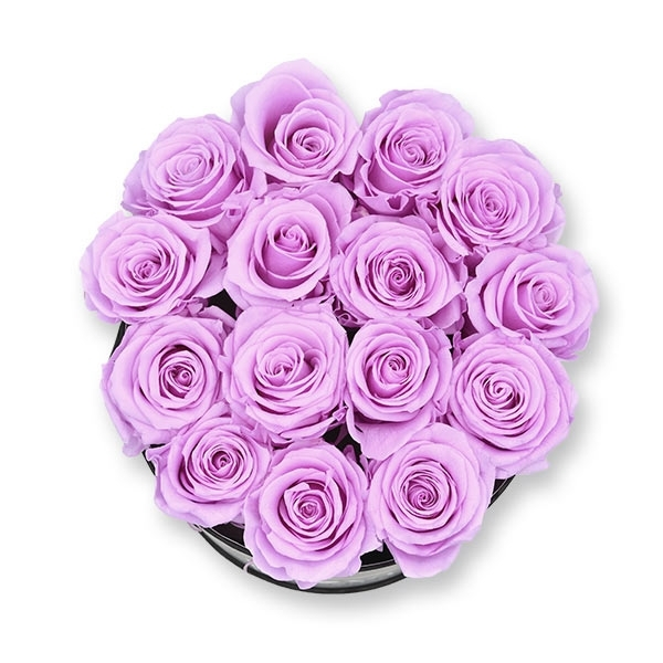 Rosenbox Infinity Rosen flieder | Flowerbox | Blumenbox | L Modern white