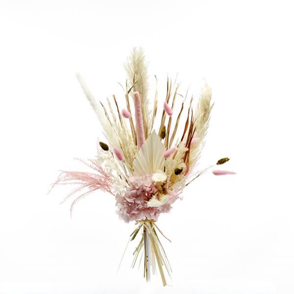 Trockenblumenstrauß Rosezauber M | Trockenblumen weiss-rosa-gold
