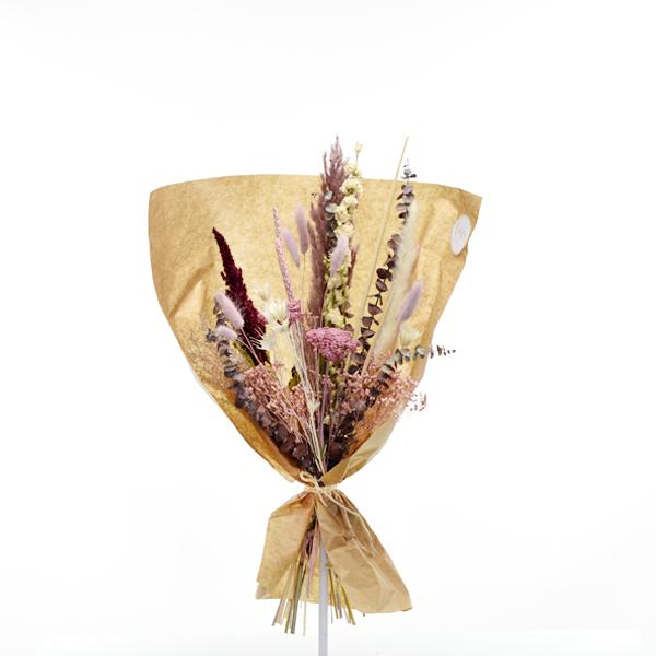 Trockenblumenstrauß Naturschönheit M | Trockenblumen altrosa-beere