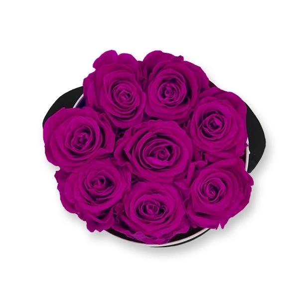 Rosenbox Infinity Rosen lila | Flowerbox | Blumenbox | M Modern white