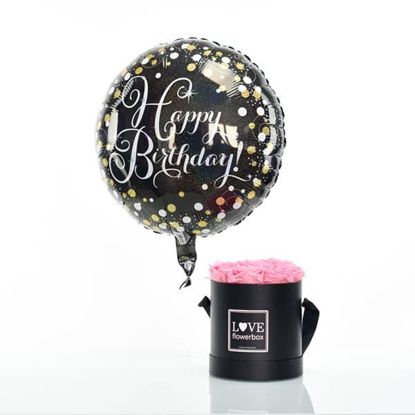 Flowerbox Set Modern | Medium | Rosen Baby Pink | Heliumballon