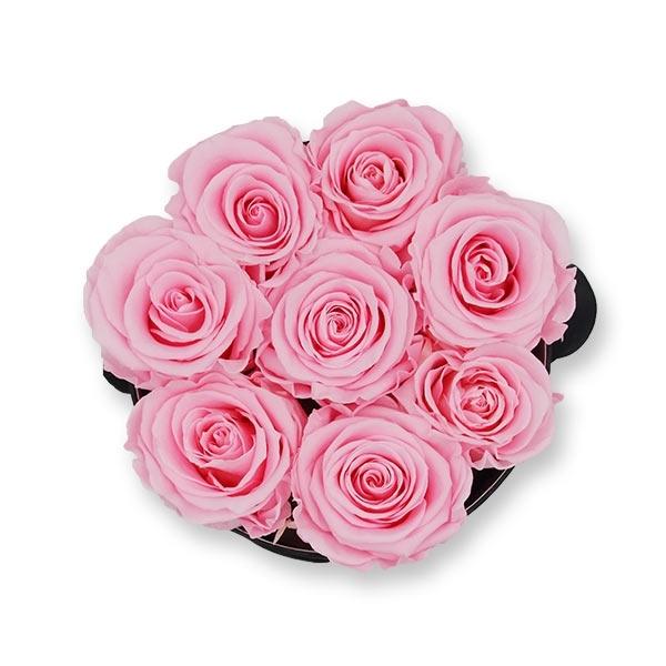 Rosenbox Infinity Rosen rosa | Flowerbox | Blumenbox | M Modern black