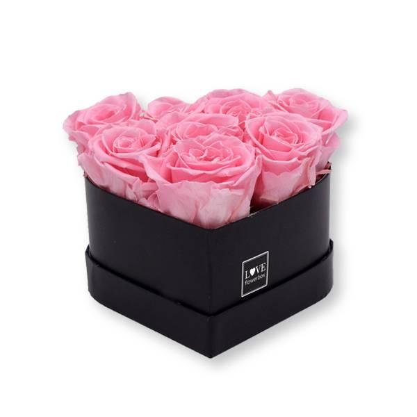 Flowerbox Herz   Small   Rosen Baby Pink