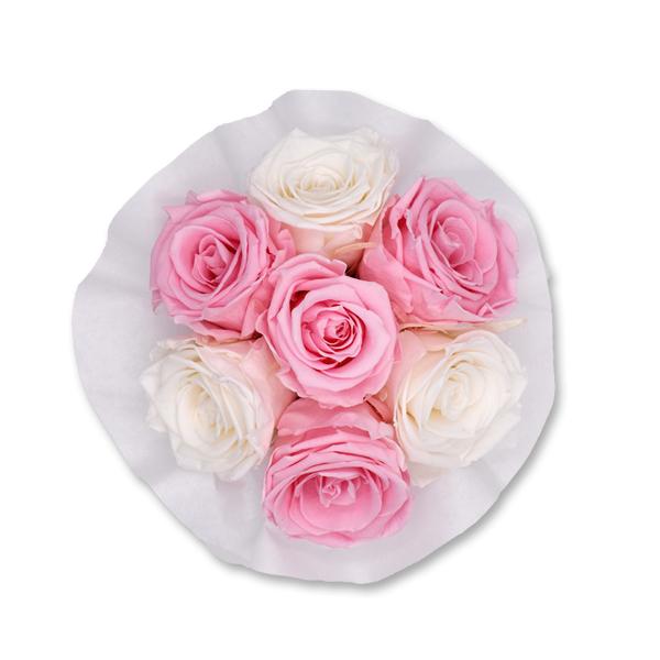 Flowerbox Bouquet | Small | Rosen weiss-rosa
