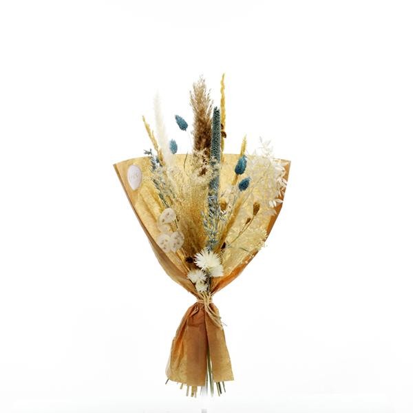 Trockenblumenstrauß Eisprinzessin M | Trockenblumen weiss-eisblau-natur