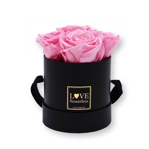 Flowerbox Modern gold | Small | Rosen Baby Pink (Rosa)
