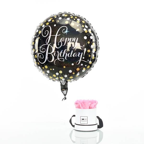 Flowerbox Set Modern | Small | Rosen Bridal Pink | Heliumballon