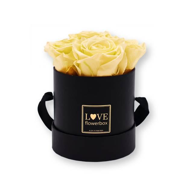 Flowerbox_rosenbox_blumenbox_rund_Small_schwarz_Infinity_Rosen_peach_aprikotpfirsisch_1.jpg