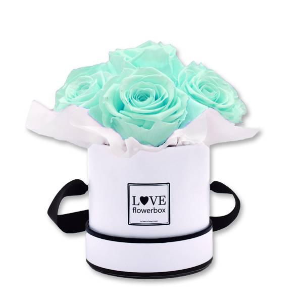 Flowerbox_Kugelfoermig_bouquet_Rund_Small_weiss_Infinity_Rosen_minty_green_mint_gruen.jpg
