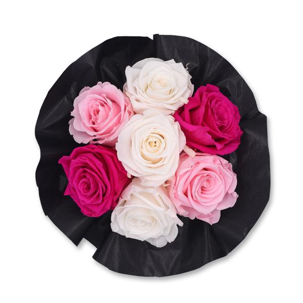Flowerbox Bouquet | Small | Rosen weiss-rosa-pink