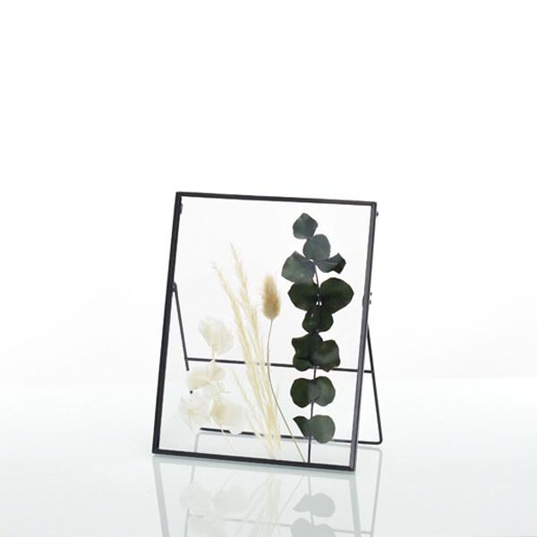 Trockenblumen Bilderrahmen mit gepressten Blumen | Eukalyptusglück | weiss-natur-grün