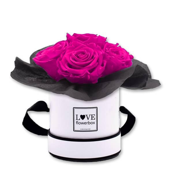 Flowerbox Bouquet | Small | Rosen Hot Pink (Pink)