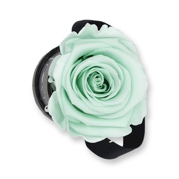 Rosenbox Infinity Rosen mint grün | Flowerbox | Blumenbox | XS Modern black