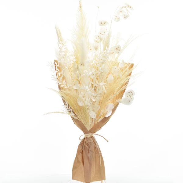 Trockenblumenstrauß Weisse Eleganz L | Trockenblumen weiss-ivory