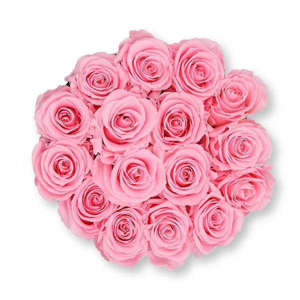 Rosenbox Infinity Rosen rosa | Flowerbox | Blumenbox | L Modern black