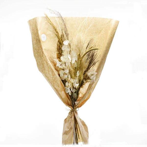 Trockenblumenstrauß Feldfarben L | Trockenblumen weiss-natur-braun