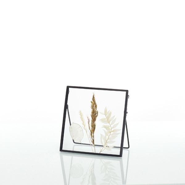 Bilderrahmen quadratisch Natur mit gepressten Trockenblumen