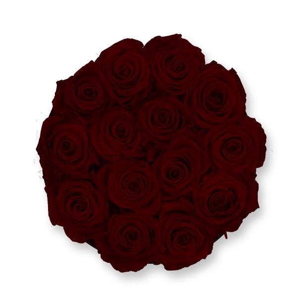 Rosenbox Infinity Rosen bordeaux | Flowerbox | Blumenbox | L Modern black