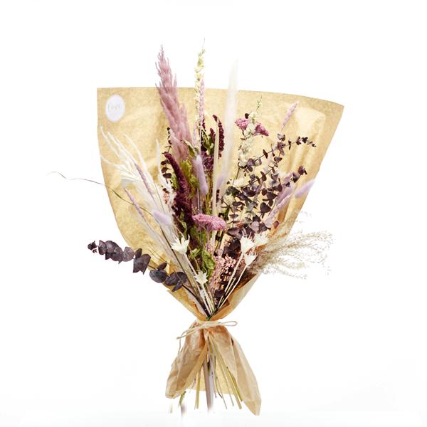 Trockenblumenstrauß Naturschönheit L | Trockenblumen altrosa-beere