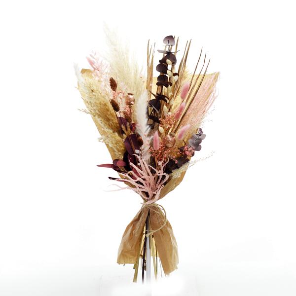 Trockenblumenstrauß Rosegoldglanz L | Trockenblumen rosa-rosegold-kupfer