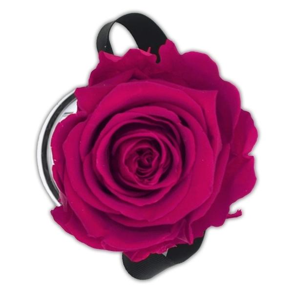 Rosenbox Infinity Rosen himbeere | Flowerbox | Blumenbox | XS Modern white