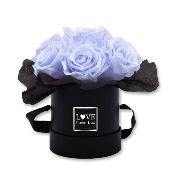 Flowerbox_Kugelfoermig_bouquet_Rund_Small_schwarz_Infinity_Rosen_cool_lavender_hellblau_blau_lavendel.jpg