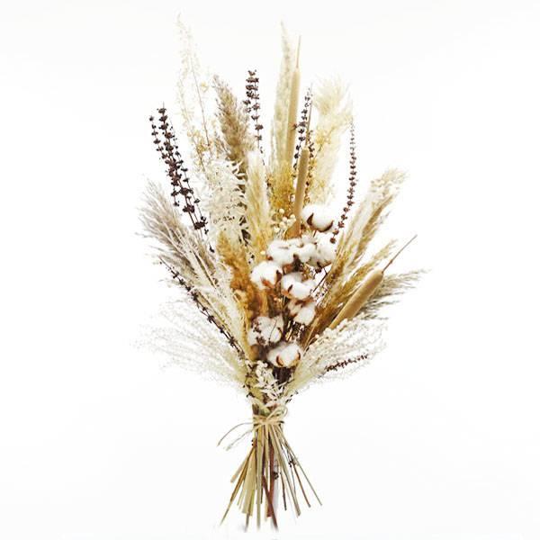 Trockenblumenstrauß Naturglück XL | Trockenblumen weiss-natur-braun