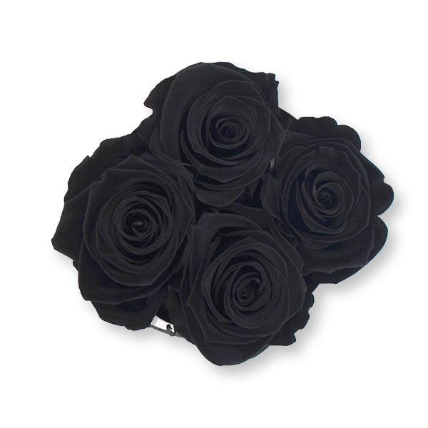 Rosenbox Infinity Rosen schwarz | Flowerbox | Blumenbox | S Modern w gold