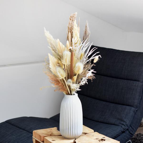 Trockenblumenstrauß Boho Liebe L | Trockenblumen weiss-natur-braun