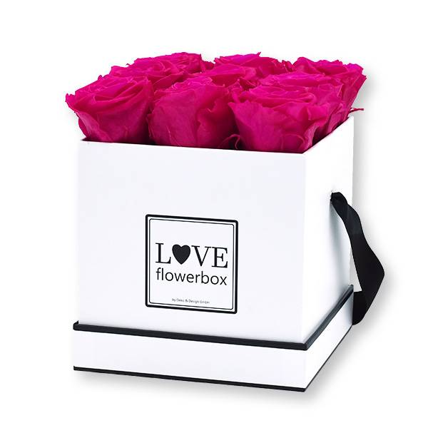 Flowerbox Modern | Medium | Rosen Hot Pink (Pink)