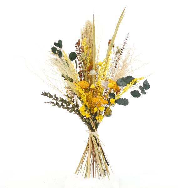 Trockenblumenstrauß Wiesenliebe L | Trockenblumen gelb-braun-grün
