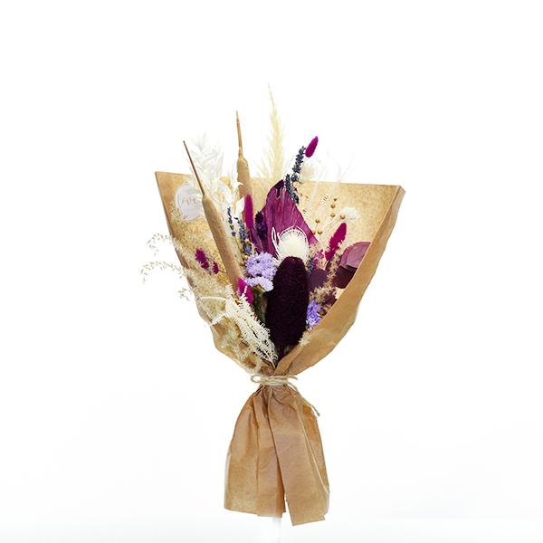 Trockenblumenstrauß Beerige Romanze M   Trockenblumen weiss-flieder-lila