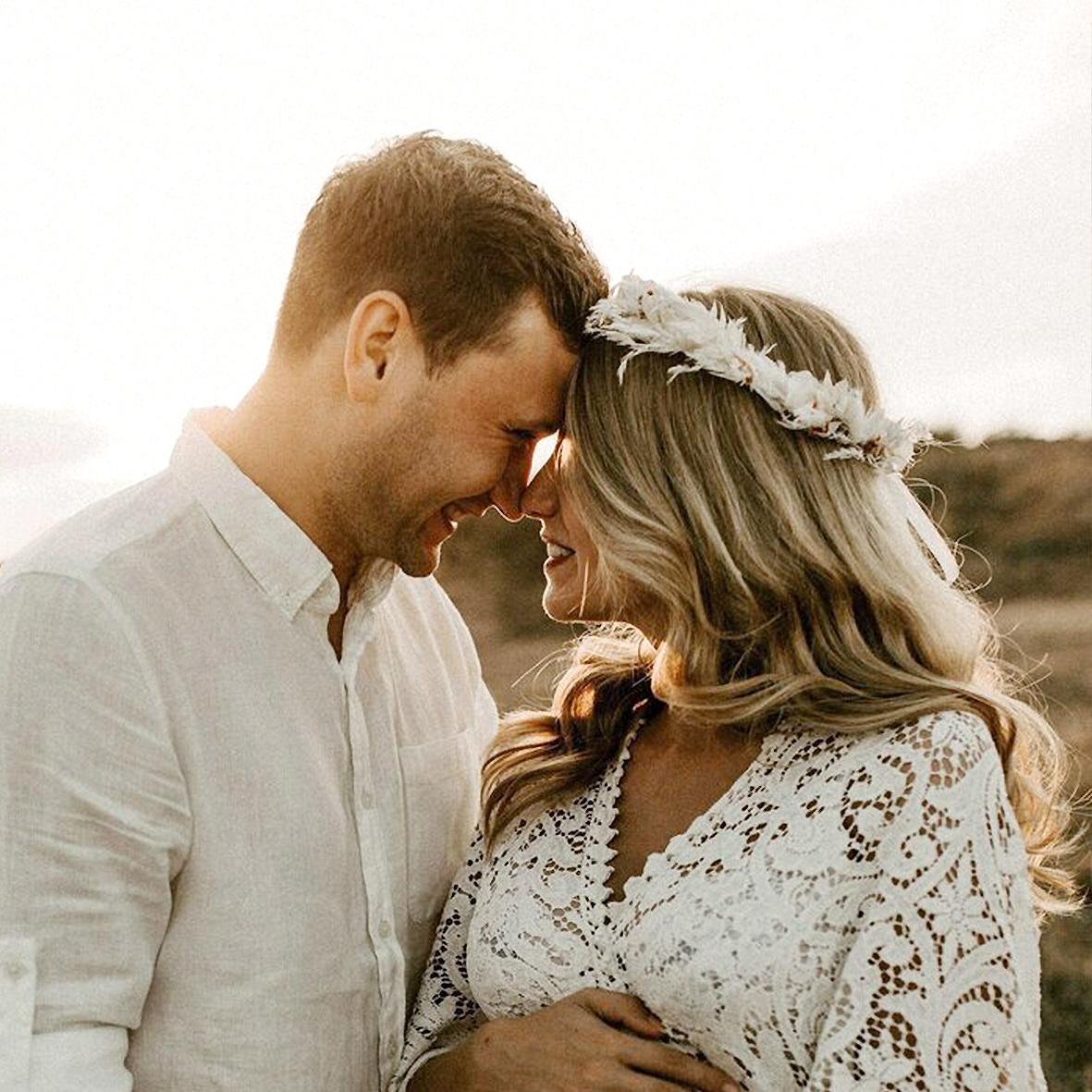 Trockenblumen Kopfkranz Braut | Trauzeugin | Weisse Eleganz | weiss