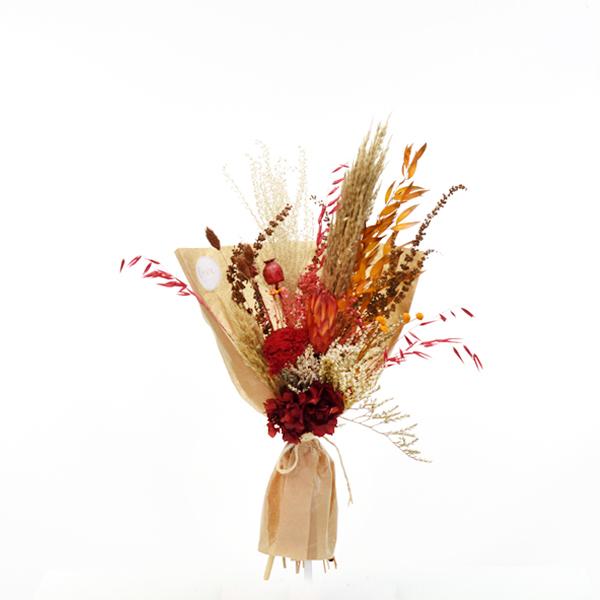 Trockenblumenstrauß Herbststimmung M   Trockenblumen natur-orange-rot-braun