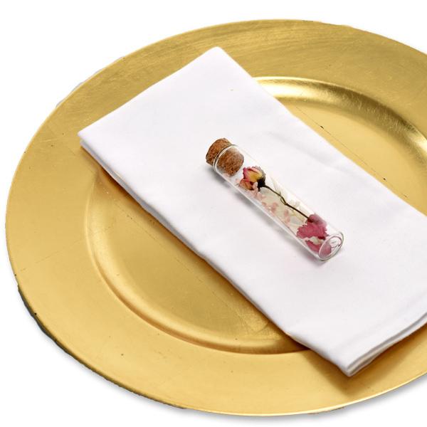 Gastgeschenk Trockenblumen Reagenzglas | weiss-rosa-altrosa (5er-Set)