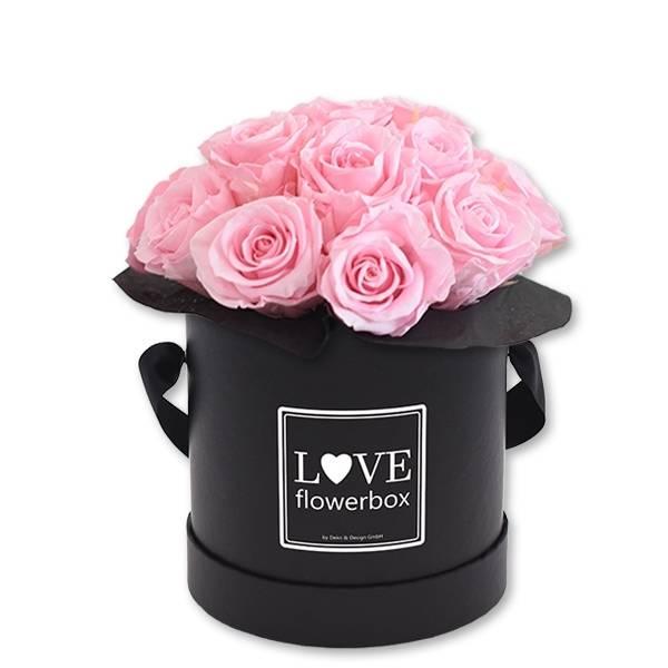 Flowerbox Bouquet   Medium   Rosen Bridal Pink (Hellrosa)