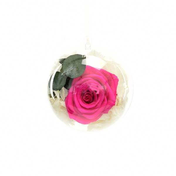 Flowerball mit Rose hot pink