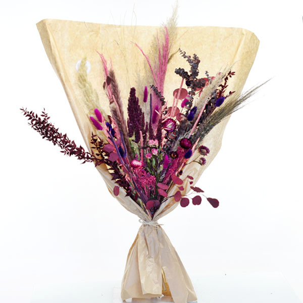 Trockenblumenstrauß Beerenzauber XL | Trockenblumen rosa-pink-beere